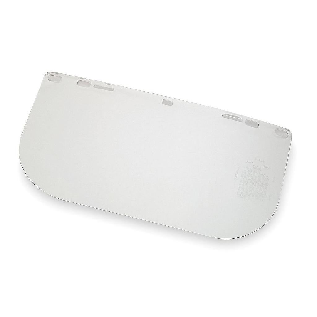 "BULLARD Acetate Faceshield, Clear, 8"" x 15"" x .040"""