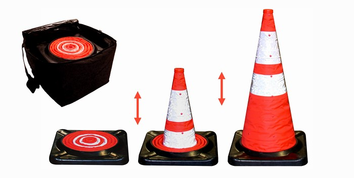 "Collapsible Cone Kit - Five 28"" Cones w/Storage Bag"