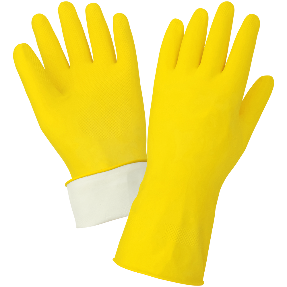 Economy Flock-Lined Latex Unsupported Gloves