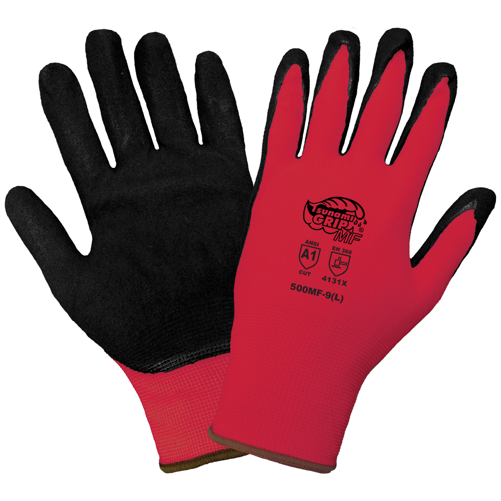 13 Gauge Mach Finish Nitrile Coated Gloves