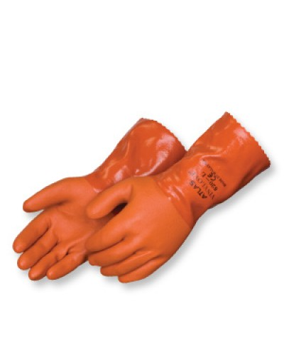 "SHOWA® ATLAS® 12"" Orange Double Dipped PVC Glove"