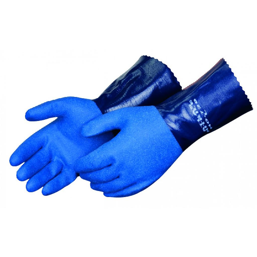 "SHOWA® ATLAS® 12"" Navy Blue Nitrile Glove"
