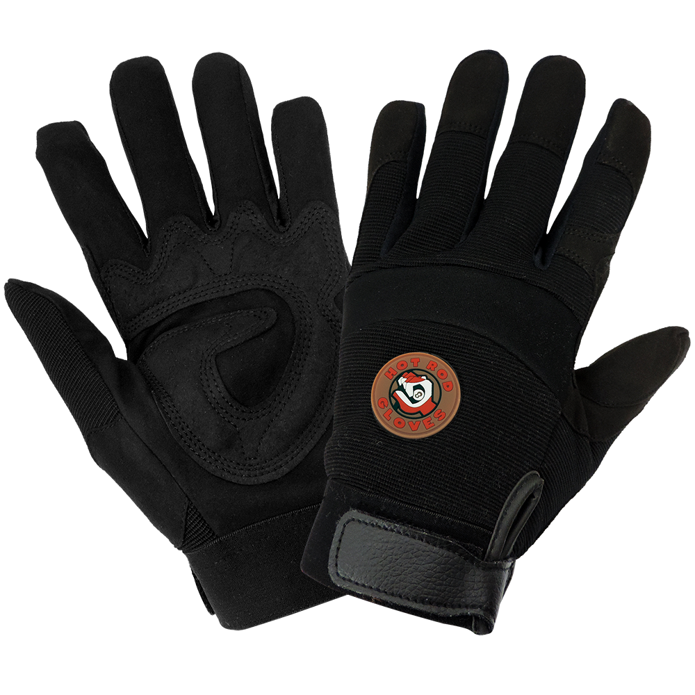 Hot Rod Gloves® Synthetic Leather Mechanics Style Gloves