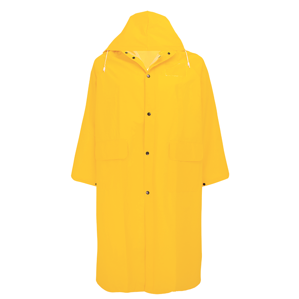 "49"" Long Yellow PVC Raincoat"