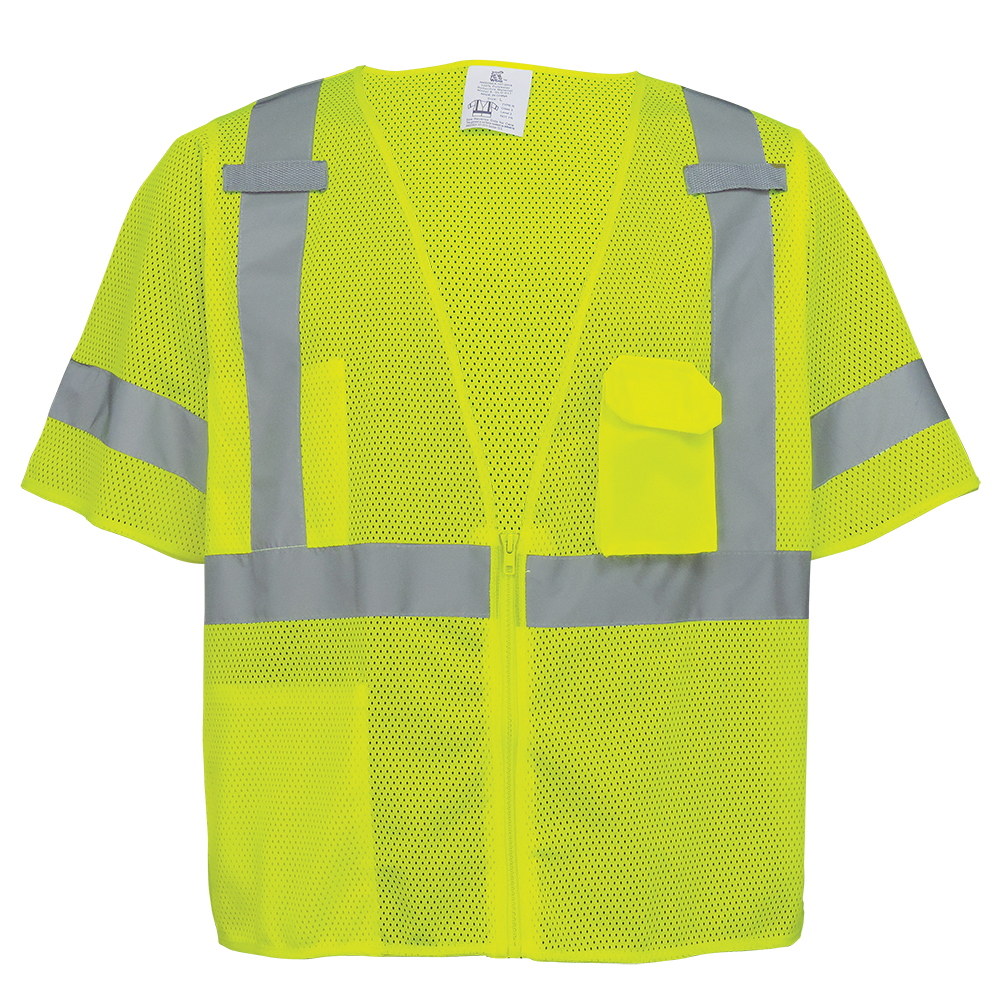 High-Visibility Mesh Polyester Short Sleeved Safety Vest