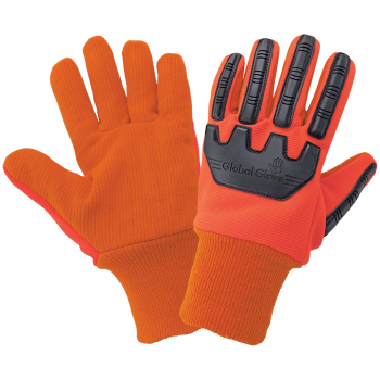 Cotton Corded Gloves with Impact Protection