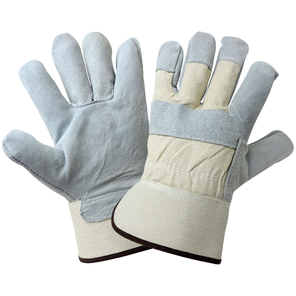 8 oz. Canvas Back Leather Palm Glove (A-530)