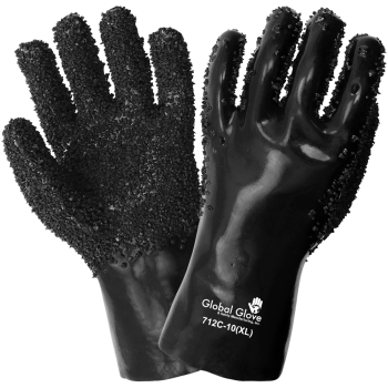Premium Double-Dipped Chip Finish PVC Gloves