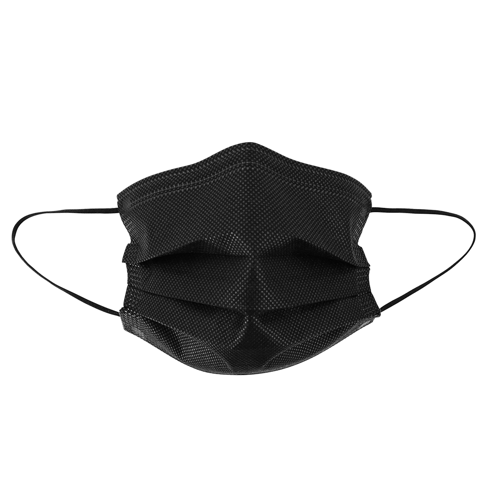 FrogWear™ Lightweight, Black, Disposable Mask, Sold by the case