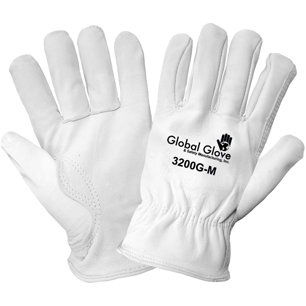 Premium Goatskin Leather Driver Style Gloves