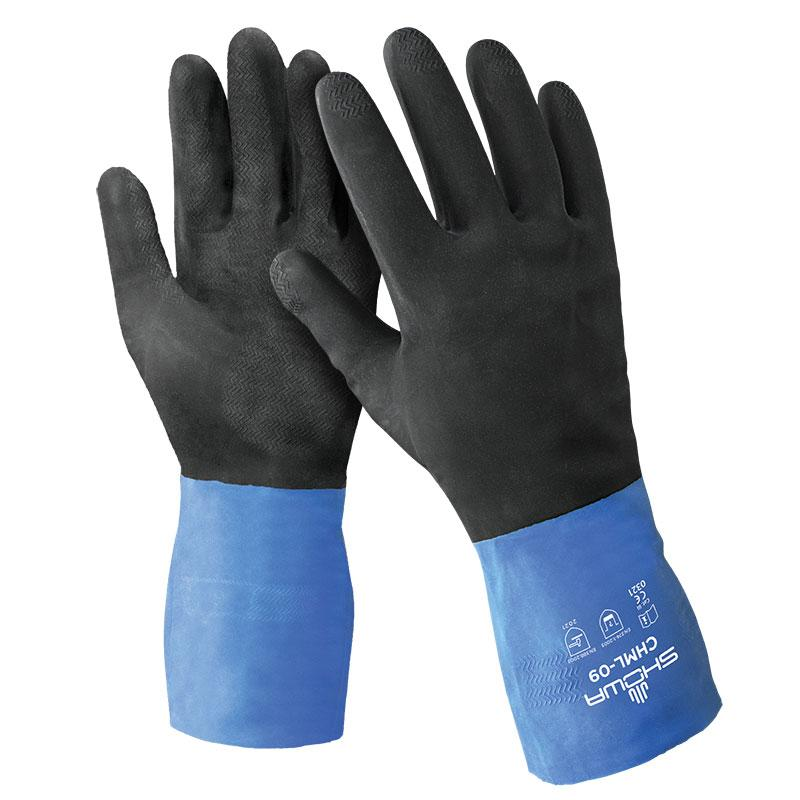 Showa 26 Mil Unsupported Neoprene Over Natural Rubber Chemical Resistant Glove