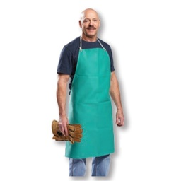 [AP-2436-R] 9 oz. Green FR Cotton Apron