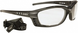 [EP-S2600D] Uvex Livewire Sealed Safety Glass, Black Frame, Clear, Anti-Fog Dura+ Lens