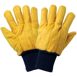[A-C16Y-TL] Cotton Quilted Yellow Chore Glove, Tagged
