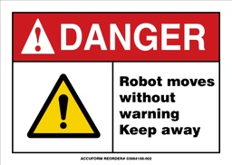 [IP-VS57R] Custom Sign  - DANGER ROBOT MOVES