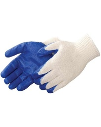 10 Gauge White w/ Blue Latex Dip Glove