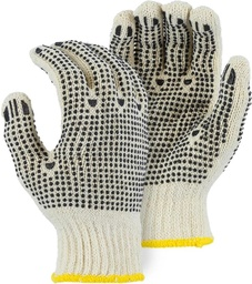 String Knit 115BRDE Glove with PVC Dots on Palm and Back