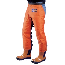 Apron Style Chainsaw Chaps, Orange