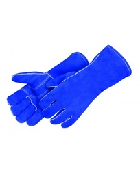 Blue Leather Welding Glove, Kevlar Sewn