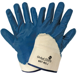 Solid Nitrile 3/4 Dipped Gloves