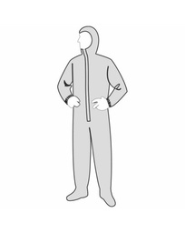 PermaGard™ Coverall - attached hood & boots