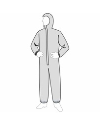 PermaGard™ Coverall - attached hood & elastic ankles