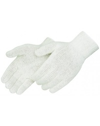 7 Gauge White Cotton/Poly String Knit Glove