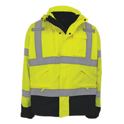FrogWear® High-Visibility Yellow/Green Three-in-One Hybrid Parka